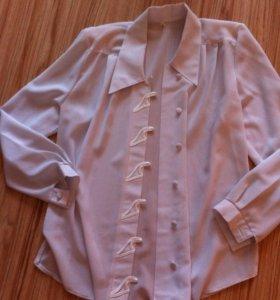 Блузка классическая белая