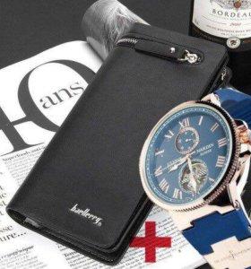 Качественные часы + Клатч Baellerry