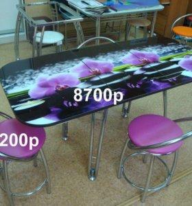 Стол с фотопечатью (раздвижной)