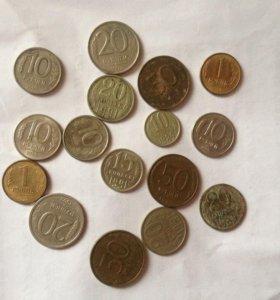 Монеты советы и россии
