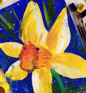 Живопись для детей, уроки изо, рисование