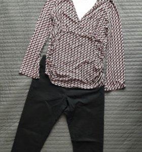 Брюки и блузка  для беременных