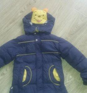 Детская куртка зимняя на 5-6лет