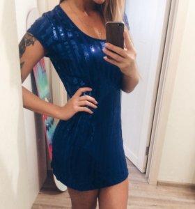 Платье синее zarina