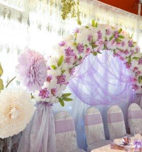Цветы для декора банкета или фотосессии