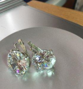 Серебро сережки