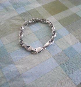 Брослет из серебра