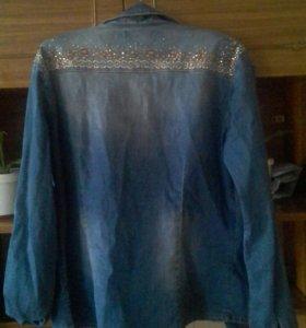 Джинсовая рубашка и платья