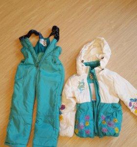 Детская куртка и полукомбинезон весна осень