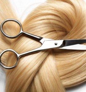 Полировка волос, стрижки, окрашивания