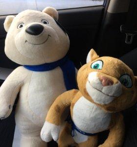 Олимпийские талисманы Сочи 2014 медведь заяц леопа