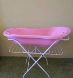 Ванночка детская на подставке-сушилке