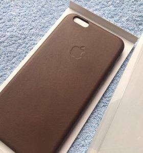 Чехол оригинал Кожа для iPhone 6 6s plus Brown
