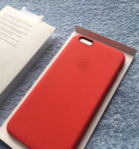 Чехол Оригинал Кожа для iPhone 6 6s plus Red