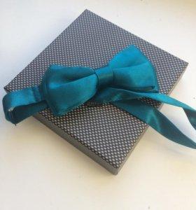 Мужской набор: бабочка, галстук и запонки