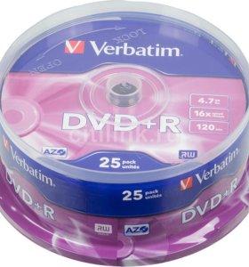 DVD-R диски Verbatim 25 шт. в упаковке