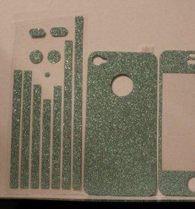 Карбон (наклейка) на iPhone 4