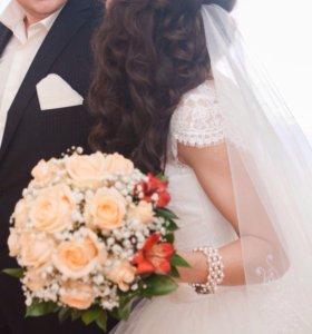 Свадебное платье+фата+туфли