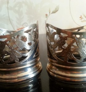 Серебряные подстаканники (2шт)