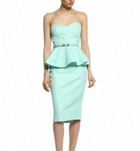 Платье Тиффани с баской