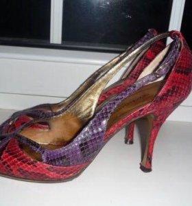 Шикарные босоножки питон Dolce Gabbana оригинал 37