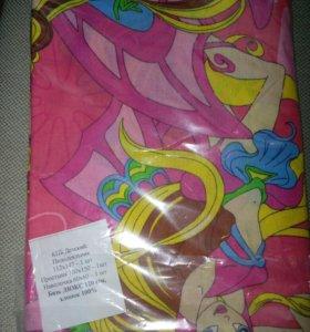 Детское одеяло и постельное белье 2 комплекта
