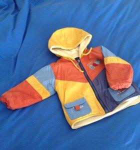 Демисезонная куртка с полукомбинезоном
