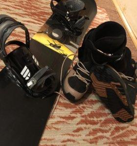 Сноуборд rossignol +ботинки