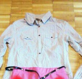 Рубашка terranova и кофта