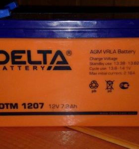 Аккумулятор Delta12v.7.2Ah.