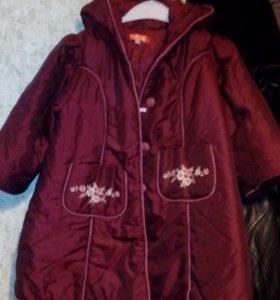 Пальто на девочку 104-110