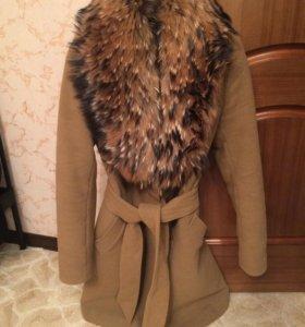 Осень-Зима Пальто, натуральный мех