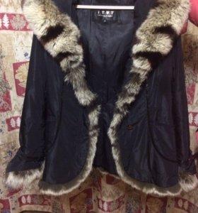 Куртка- дубленка( мех натуральный- кролик)