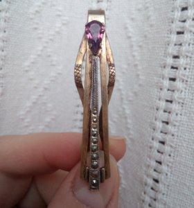 Винтажная серебряная заколка для галстука