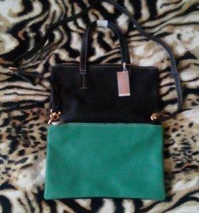 2 в1 новая сумка/клатч 👜