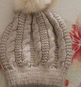 Комплект шапка +(снуд)шарф