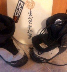 Сноуборд с ботинками р 42