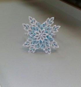 Ободок снежинка