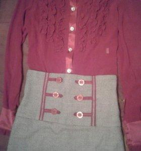 Комплект:юбка и блуза.