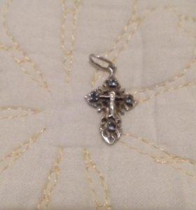 Крестик новый серебро 925проба
