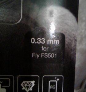 Защитное стекло на телевон Fly FS501