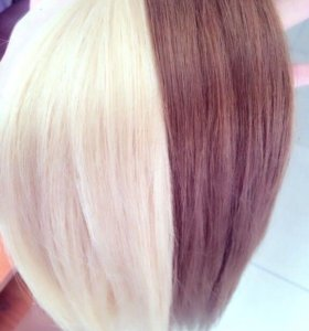 Натуральные волосы на кератиновой капсуле