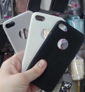 Чехол силиконовый матовый для iPhone 7