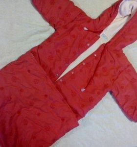 Куртка конверт осень весна рост80