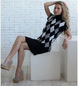 Платье вязаный трикотаж