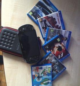 Игровая приставка PSVita + 6 игр