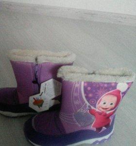 Новые зима ботинки зимние
