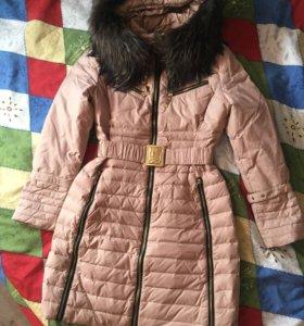 Тёплое пальто-пуховик