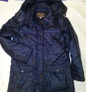 Удлинённая куртка на меху.