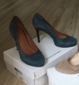 Туфли замшевые 37 р-р